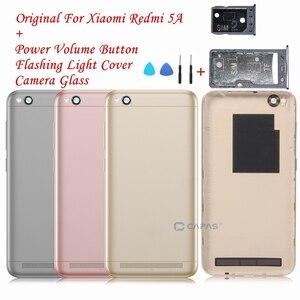 Image 1 - Orijinal Xiaomi Redmi Için 5A Arka Pil Konut Kapak Redmi 5A Arka Kapak + Kamera Cam + Yan Tuşları Düğme onarım Yedek Parça