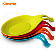 Utensil spatula rest kitchen resistant spoon heat silicone tool holder