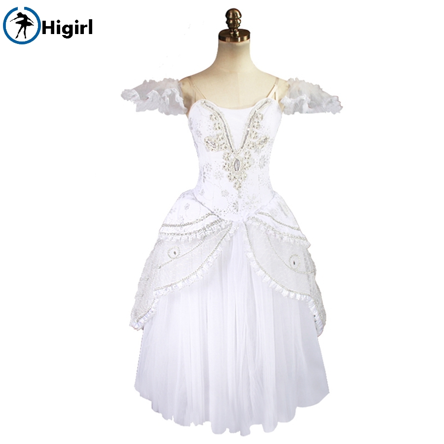 Snow White Queen Adulto Professionale di Balletto Tutu Balletto Romantico Tutu Dress Ballerina Costumi di Scena BT8902