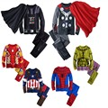 RT-193 Spring Fall 2017 Hulk pajamas for boys children Batman pajamas super hero Iron Man costume Spiderman Batman pajamas suits