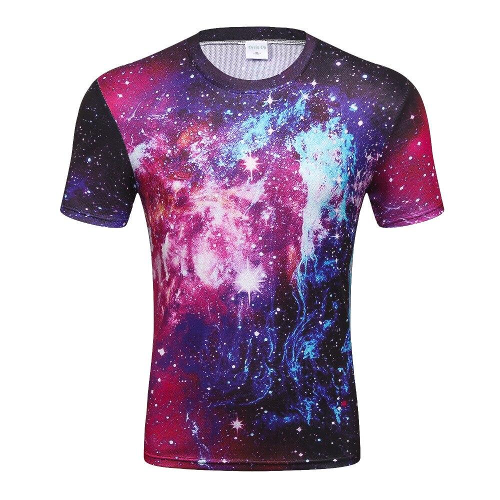 2017 Fashion T Shirt Men Space Galaxy Printed 3d T Shirt