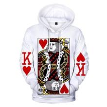 Aikooki poker 3d hoodies homem/mulher moda harajuku inverno manga longa impressão 3d poker hoodies masculinos e moletom casual 4xl