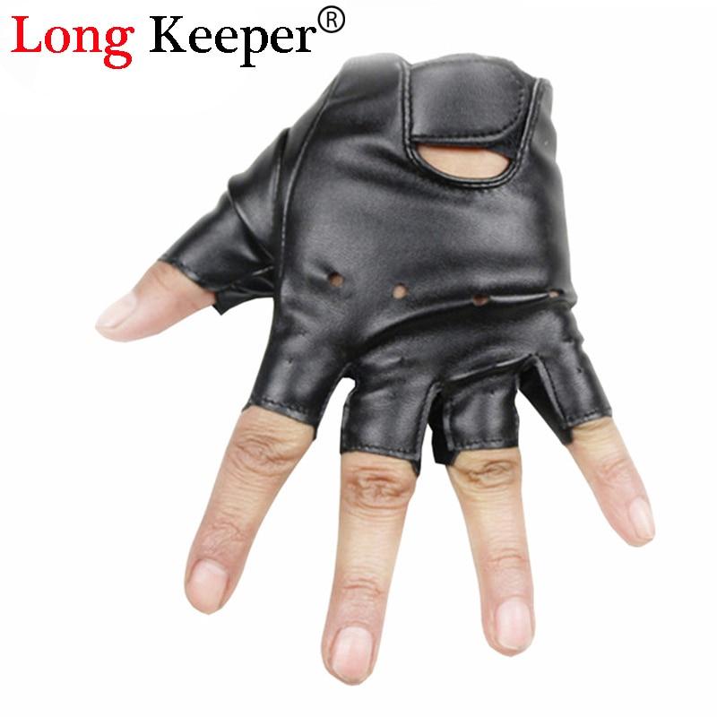 Long Keeper Cool Gloves Kids Fingerless Leather Gloves -5304