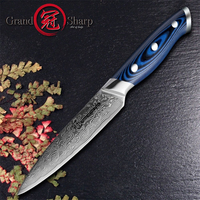 5'' Utility Knife Damascus Kitchen Knife High Carbon Steel 67 Layers Japanese Damascus Stainless Steel VG 10 Cooking Tools Knive