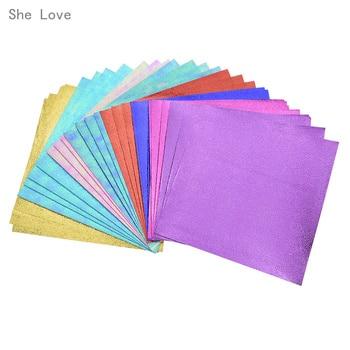 Chzimade 40 Sheets Laser Shinning Origami Paper Single Sided DIY Kids Folded Paper Craft Scrapbooking Decoration 1