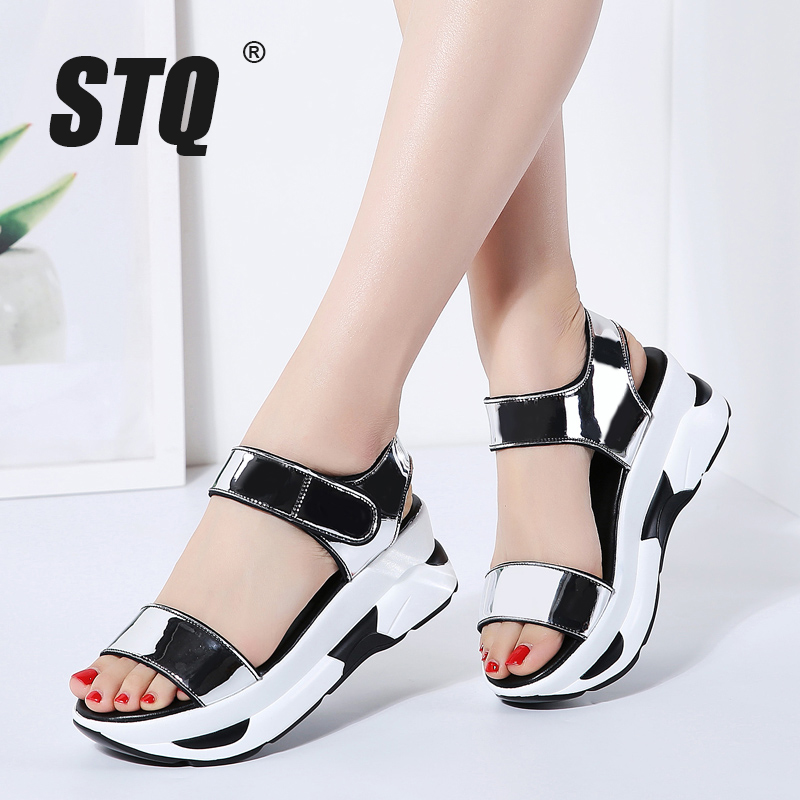 STQ Sandals Shoes High-Heel Women Ladies Flip-Flops Beach Slingback 7588