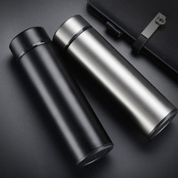Brand New OQTO 450ml 500ml Thermal Cup Stainless Steel Glass Liner Vacuum Flask Tumbler Water Bottle
