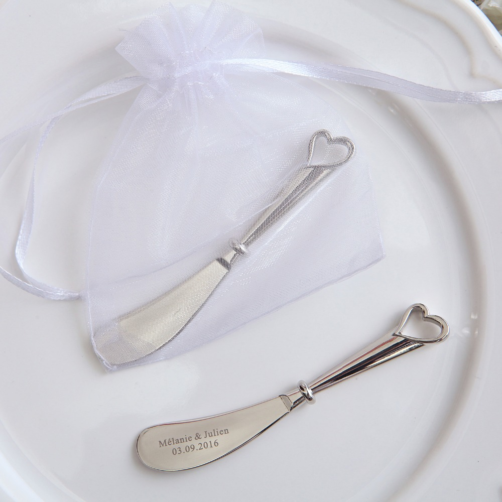 100Pcs Personalized Butter Knife Wedding Favors Hollow Out Heart ...
