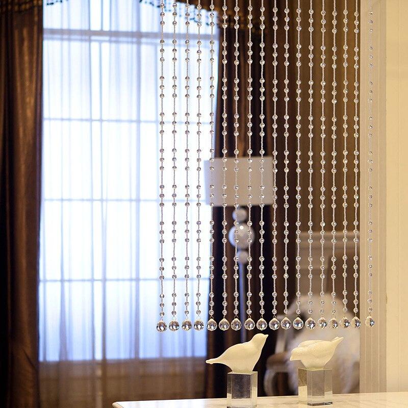 Beaded Curtain String Door Window Room Panel Glitter Crystal Ball