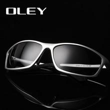 OLEYยี่ห้อDesignerอลูมิเนียมแมกนีเซียมผู้ชายแว่นตากันแดดPolarizedชายขับรถแว่นตาแว่นตาแว่นตา