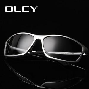 Image 1 - OLEY lunettes de soleil accessoires lunettes polarisées pour hommes, marque de styliste en aluminium magnésium, accessoires pour la conduite