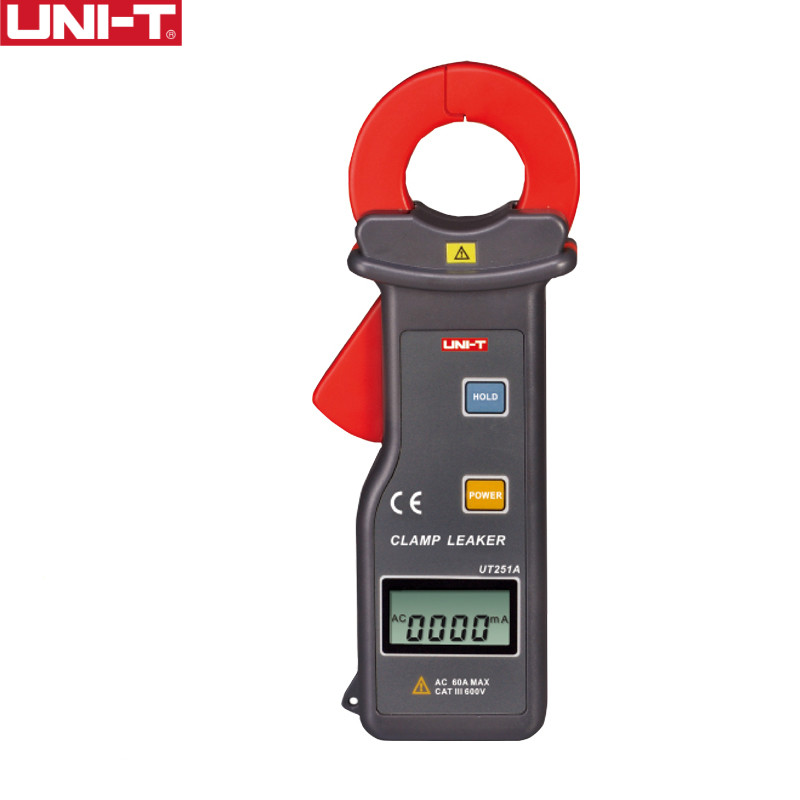 UNI-T UT251A High Sensitivity Leakage Current Clamp Meters Auto Range Current Teaters LCD Display etcr030 high accuracy clamp leakage current sensor