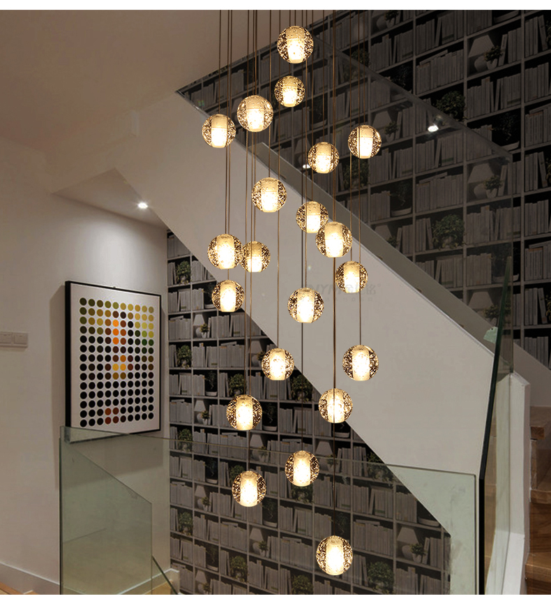 10cm Glass Crystal Ball Chandelier LED Luxury Lamp Pendant Lamp Hanging Interior Ladder Corridor stairs Lamps10cm Glass Crystal Ball Chandelier LED Luxury Lamp Pendant Lamp Hanging Interior Ladder Corridor stairs Lamps