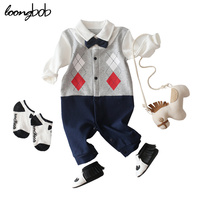 Baby Boys Rompers Summer Newborn Clothing Suit Infant Gentleman Bowtie Short Sleeve Baby Boy Jumpsuits Brand