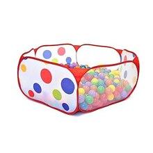 Baby Play Yard Tienda Corralito Kids Safe Polka Dot Hexagon Baby Playpen Indoor Ball Pool Play Tent Safety Mesh 1m 1.2m 1.5m