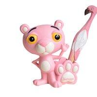 Cartoon Pink Tiger Figurine Ornaments Resin Pen Holder Miniature Tiger Decor Cake Decoration Figurine Home Accessories