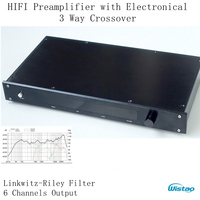 HIFI Amplificador com Filtro Eletrônico 3 Way Crossover Linkwitz-Riley 6Chs Crossover-ponto de Saída 310 HZ/3.1 KHz Classe A Potência