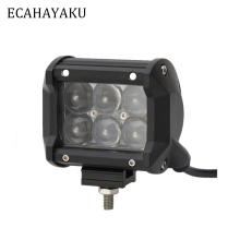 ECAHAYAKU 1Pcs 4 inch 30W  LED Work Light bar 6d spot flood beam led bar For Tractor Boat OffRoad 4WD 4x4 Truck SUV ATV 12V 24V ecahayaku 1 pcs 4d 4 inch 20w led work light bar 12v 24v spot beam offroad 4x4 led work lamp drl for truck boat atv suv jeep 4x4