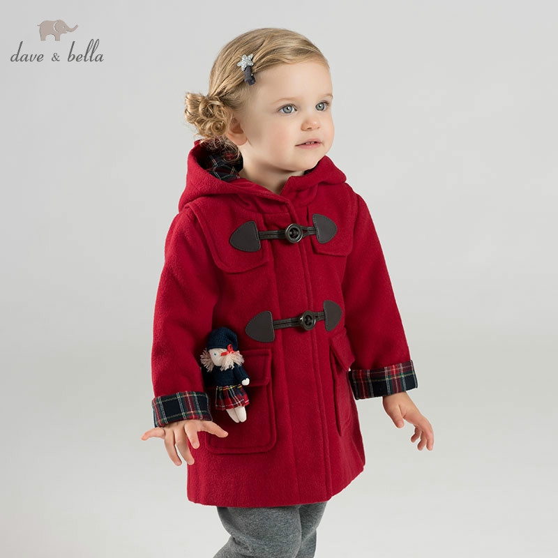 DB9005 dave bella autunno inverno del bambino della ragazza bella giacca bambini di modo della tuta sportiva dei bambini cappotto rosso-in Giacche e cappotti da Mamma e bambini su AliExpress - 11.11_Doppio 11Giorno dei single 1