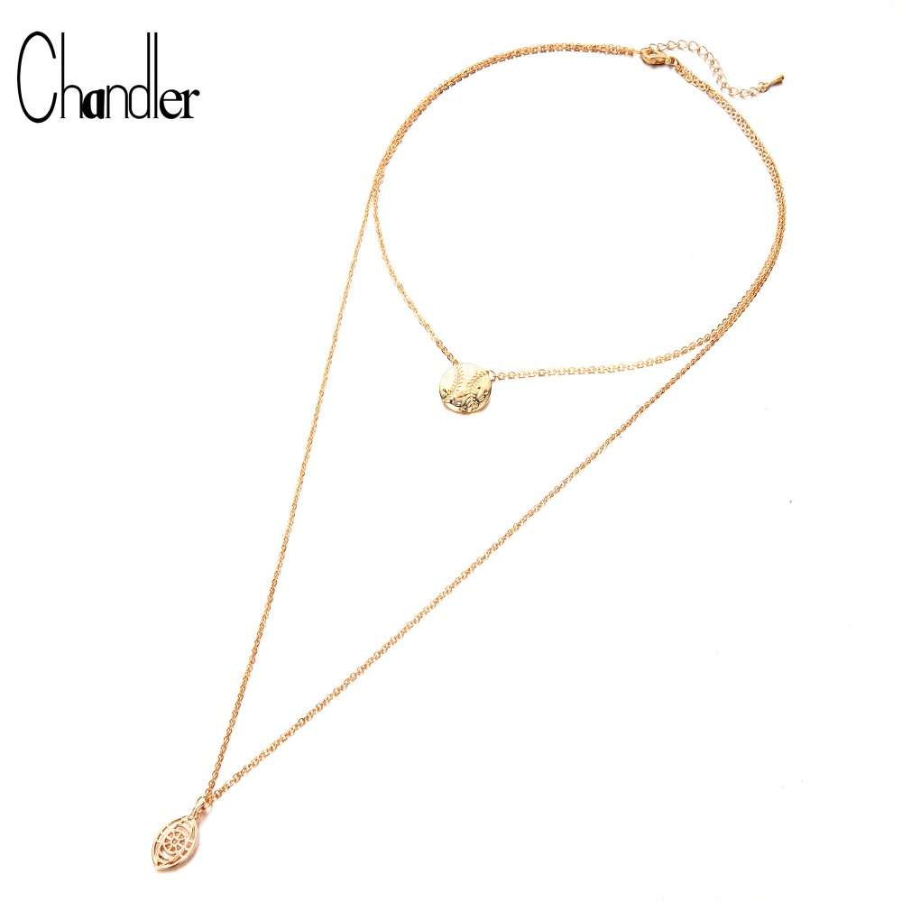 Infinite U Lucky Star Choker Necklace Pendant Disc Chain Statement Layered Necklace for Women Girls