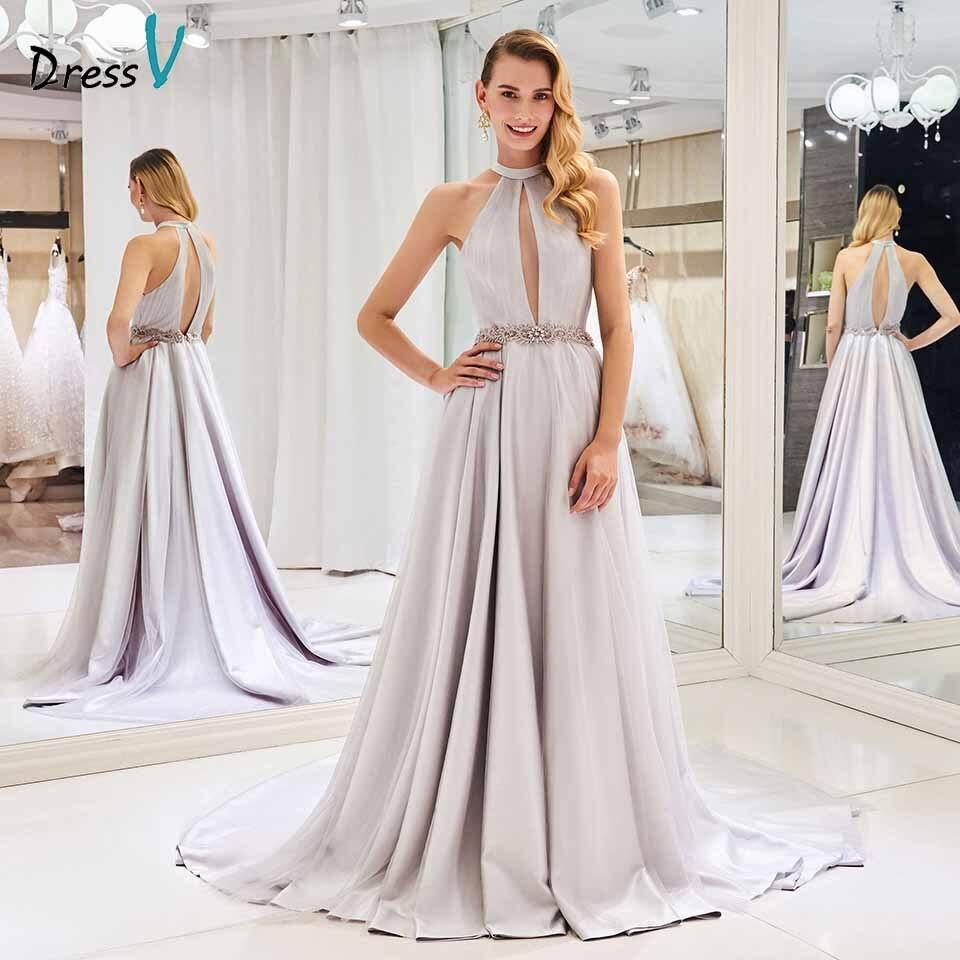 Dressv Elegant A Line Wedding Dress Scoop Neck Beading Court Train Zipper Up Floor Length Bridal Outdoor&church Wedding Dresses