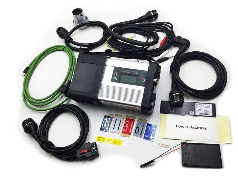 Prix pour V2017.3 MB SD Connect Compact C5 Étoiles Diagnostic avec WIFI soutien pour Voitures et Camions avec Multi-Langauge de voiture outil de diagnostic