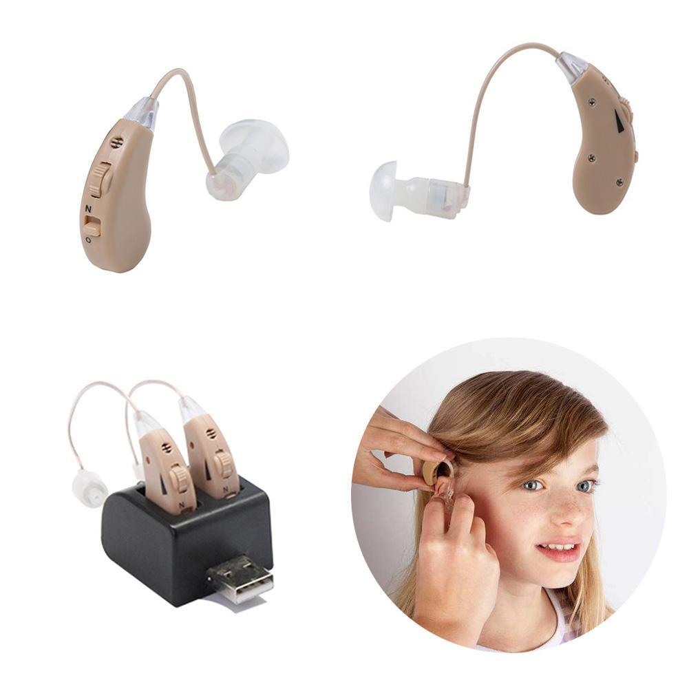 Invisible BTE Hearing Aid Sida Rechargeable Mini Numérique Sans Fil Oreille Appareils Auditifs Son Amplificateurs Pour Malentendants