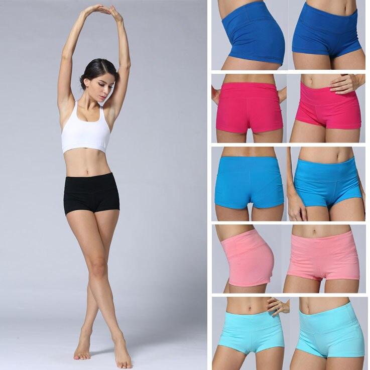 Free Shipping Women Mid Waist Yoga Shorts GYM Running