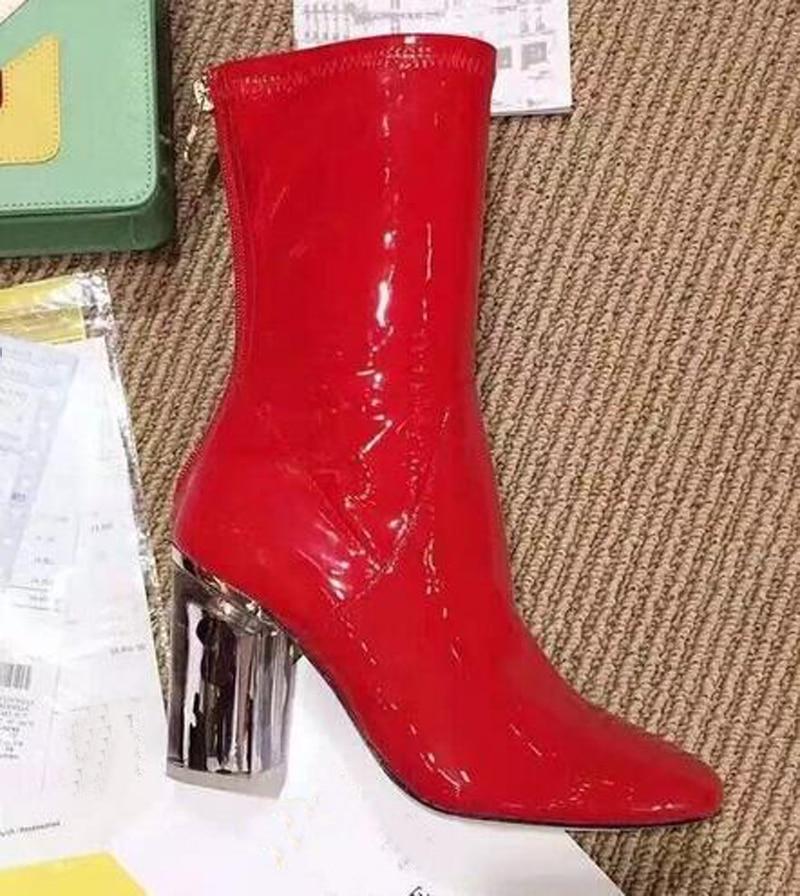 Toe Date En Picture Femme Chaussures Mode Bottines Femmes Picture De as Talons Western Plastique Pvc As Nouvelle Courtes Peep D'été Bottes Hauts rPrqpAx