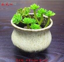 2019 Creative Durable Flower Pots Colorful Handmade Ceramic Flower Pots Garden Succulent Plants Jardin Bonsai Desk Flower Pot