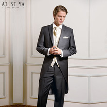 mens suits  Hot Fashion Men's Business Suits Wedding Tuxedos Groom Tailcoats Formal Blazers