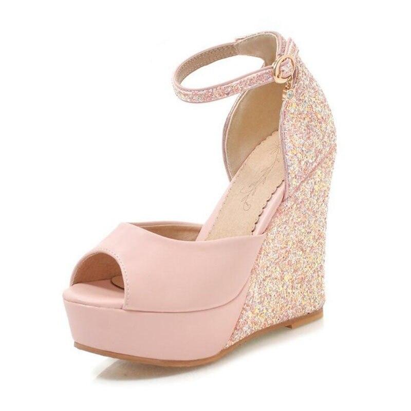 Bling Qualité Talons white Sexy 43 Pompes pink Top Chaussures Mariage De 2019 Supérieure Taille Grande 34 Mariée Black Femmes Hauts Parti Femme 5PqxgYA