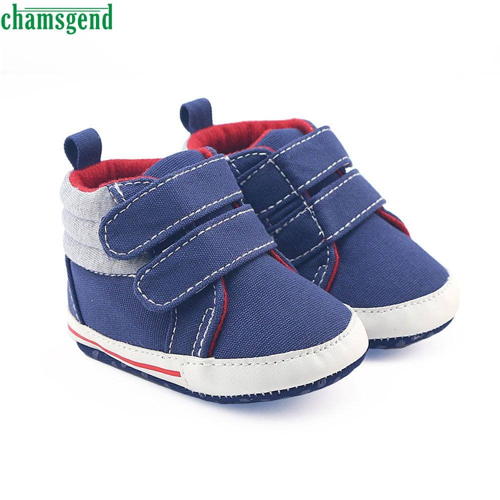 CHAMSGEND fashion Newborn Infant Baby Girls Boys Crib help high school Shoes Soft Sole Anti-slip Sneakers Canvas P30