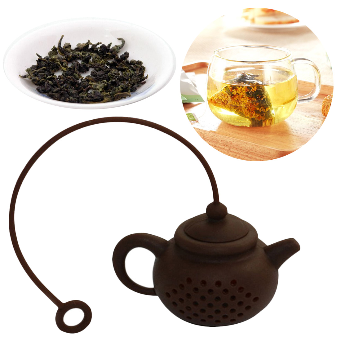Creative Silicone Tea Bag Tea Pot Shape Tea Filter Safely Cleaning Reuseable Tea/Coffee Strainer Accessories