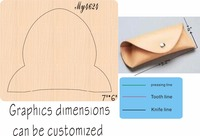 Small bag 2 new wooden mould cutting dies for scrapbooking Thickness 15.8mm