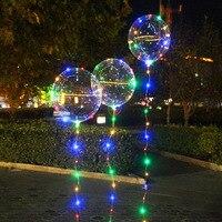 Nuevo Globo LED cadena de luces redondas burbuja globos de helio decoración de la boda de los