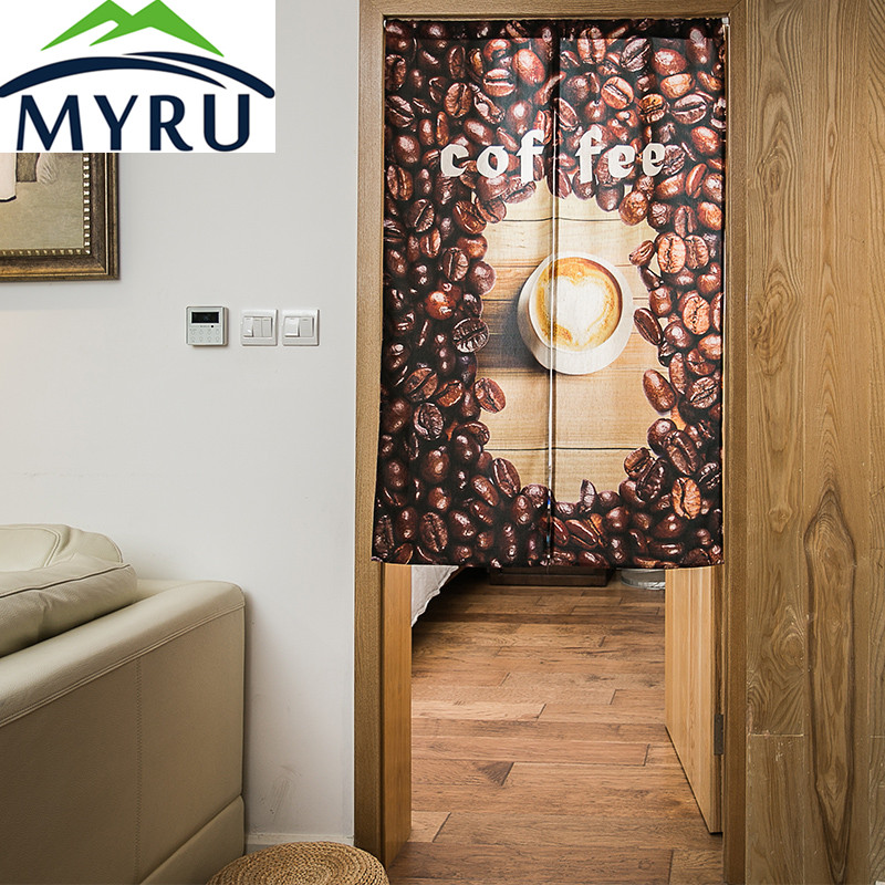 MYRU European Style Coffee Door Curtain Kitchen Curtain