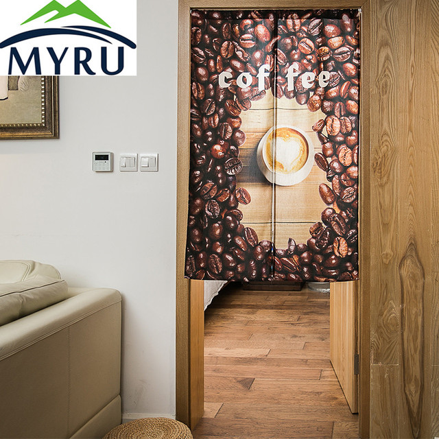 MYRU European Style Coffee Door Curtain Kitchen Restaurant Feng Shui Bedroom Living Room