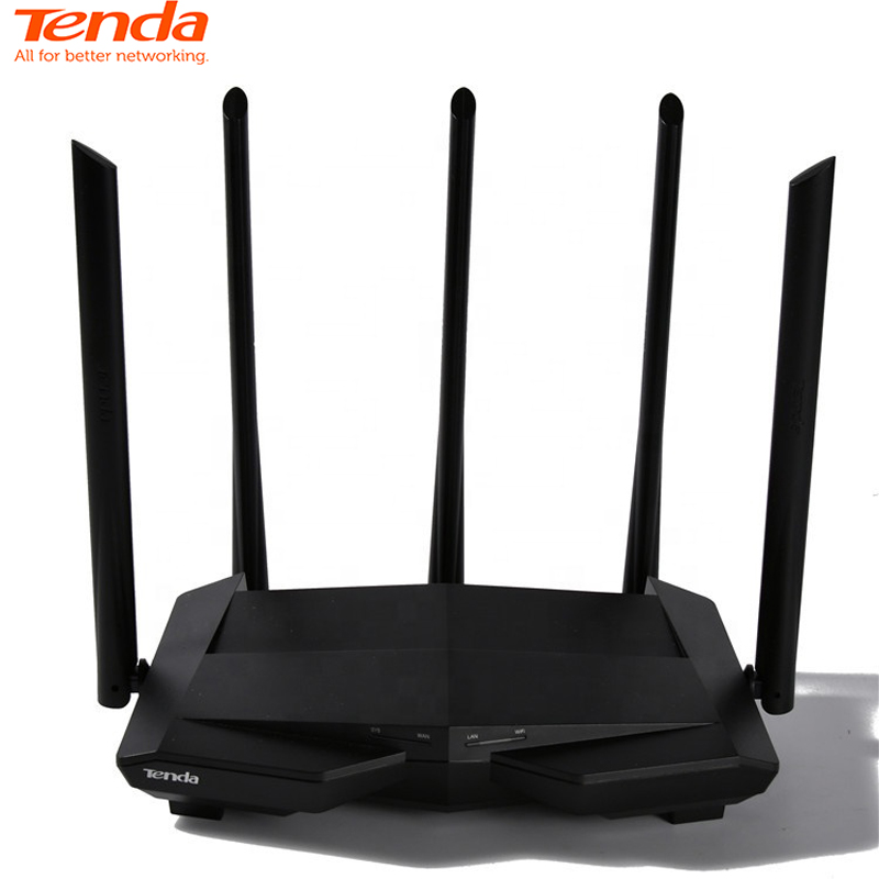 Tenda Wireless-Router Setup Gigabit Dual-Band AC1200 High-Gain Antennas with 5--6dbi