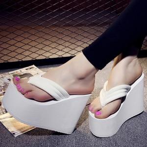 Image 5 - Tongs de loisirs pour femmes, sandales dété Sexy, chaussures de plage à plateforme haute, tendance, pour femmes, collection sandales décontractées