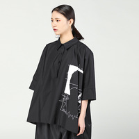 SuperAen Europe Fashion Women Shirts Wild Casual Print Ladies Blouse New 2018 Spring Loose Shirts For
