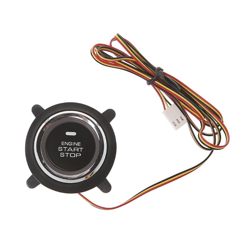 Novo de alta qualidade 1 pc dc 12 v botão de partida do motor carro automático para pke tecla inteligente botão iniciar alarme da motocicleta