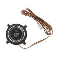 Nuevo botón de arranque de motor de coche de alta calidad 1 Pc DC 12V para PKE inteligente llave Pulsar botón arranque alarma de motocicleta|Sistema de encendido sin llave| |  -