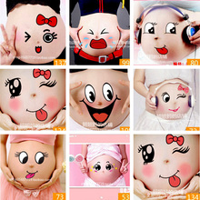 Retail Lactation Belly Stickers Cute Photography Props Woman Pregnant Smiling Face Belly Stickers Mum Maternity Accessories