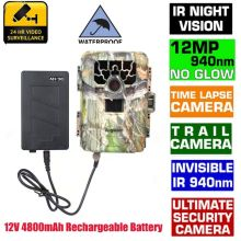 12MP 940NM No Glow Trail Scouting Camera Blueskysea SG-880V 1080P Hunting Camera with 36PCS Infrared IR LED+12V 4800mAh Battery