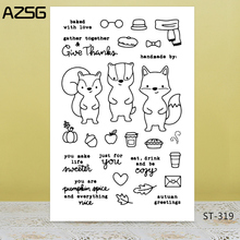Cute squirrel Transparent Silicone Clear Stamps/seal for DIY Scrapbooking/Card Making/Photo Album Decoration Supplies warm fireplace clear stamps seal for diy scrapbooking card making photo album decoration supplies