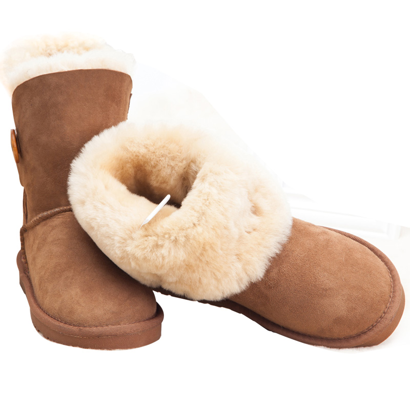 Free shipping classic waterproof cowhide genuine leather snow boots winter shoes for women Fur цены онлайн