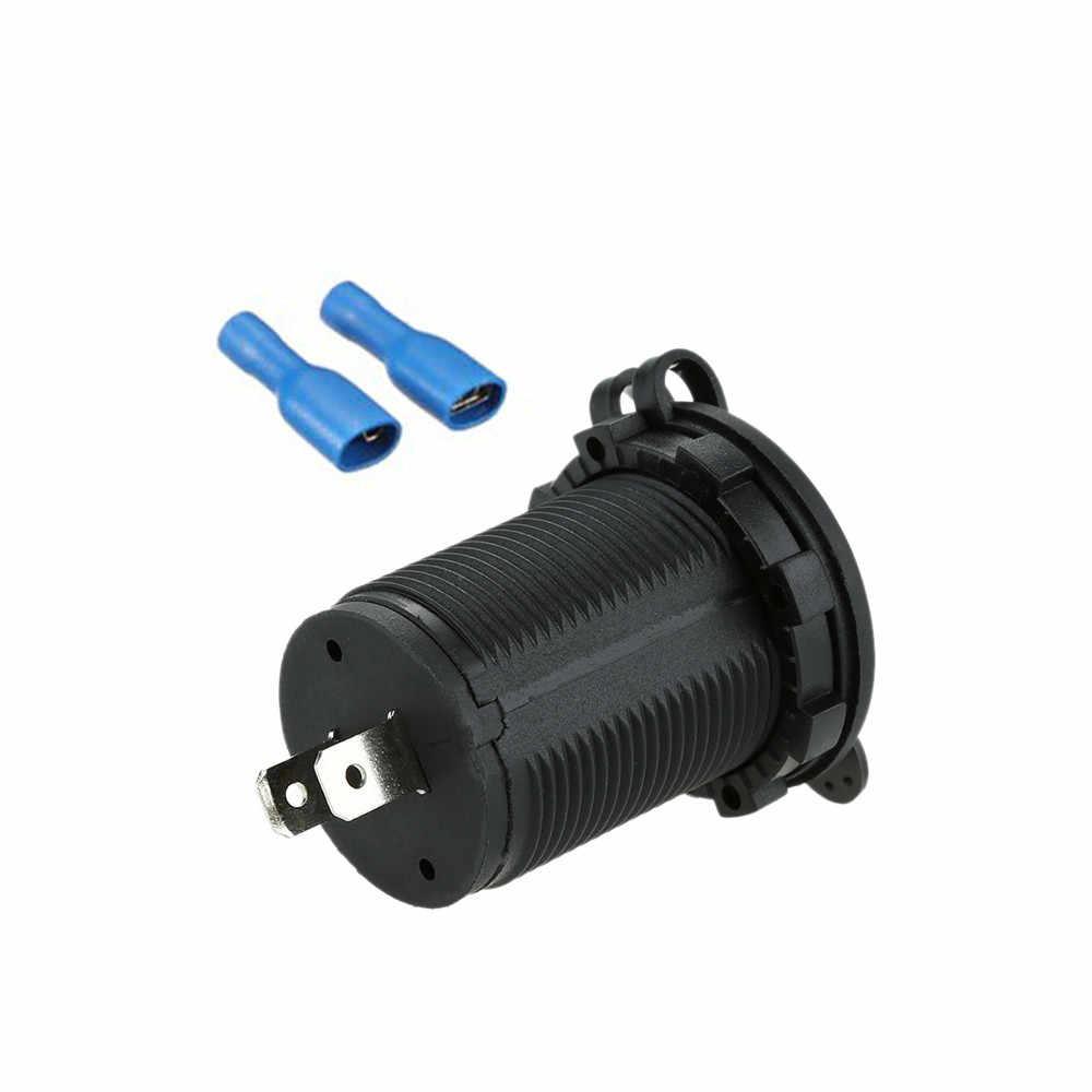 المحمولة المزدوجة USB ميناء 5V2. 1A دراجة نارية شاحن محول الطاقة ل سيارة شاحنة قارب المحمول الهاتف اللوحي