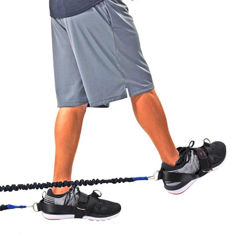 2 pçs/lote All-Faixa da Resistência do Exercício da Aptidão Pernas Coxa Ankle Straps 4-Anel de Fitness Exercício Glúteo Propina do Tornozelo cinta