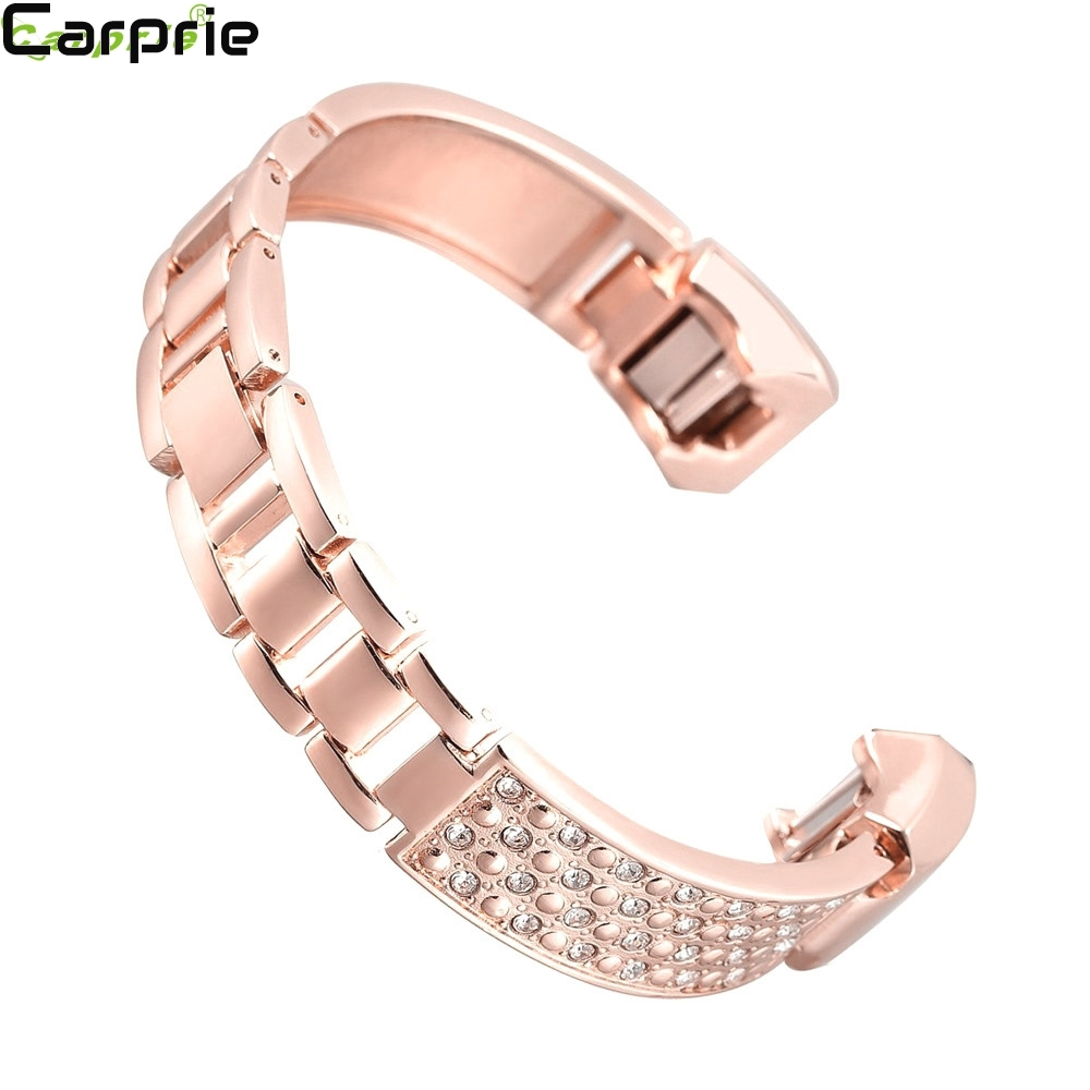 Best price ! Replacement Metal Watch Bands With Rhinestone for Fitbit Alta TOP quality drop shipping 2mar21